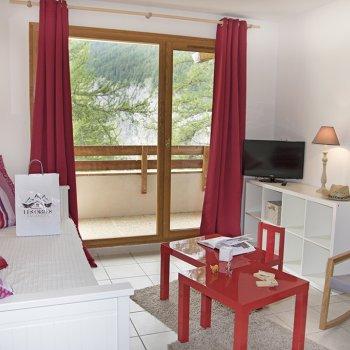 Pièce à vivre appartement 2 pièce Les Orres