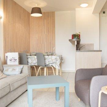 Pièce à vivre appartement 2 pièces Les Orres