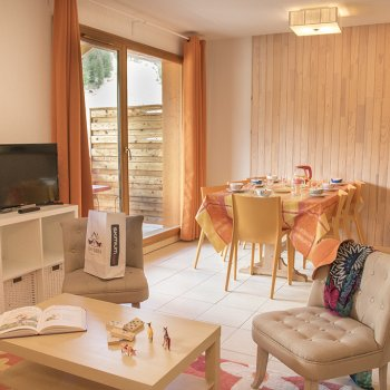 Pièce à vivre appartement 3 pièce Les Orres