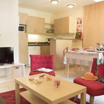 Pièce à vivre appartement 4 pièces Les Orres